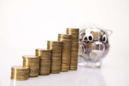 ig bank and money coin Stock Photo - 17875507