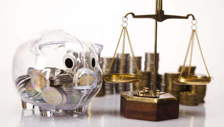 Business concept, Pig bank and money coin Stock Photo - 17875516