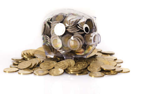 Piggy bank and money  Stock Photo - 17875490