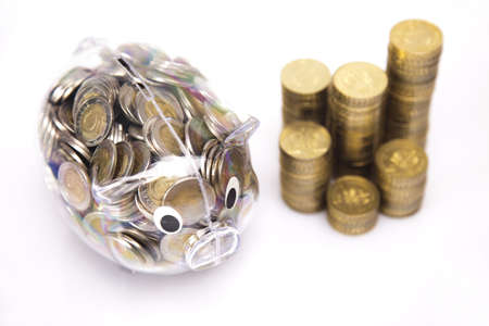 Piggy bank and money Stock Photo - 17875506