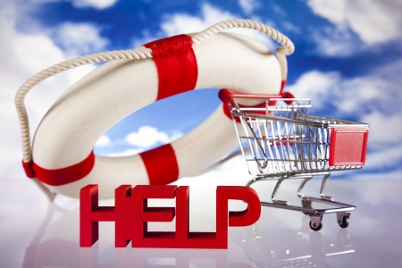 Lifebuoy and help concept Stock Photo - 18745875