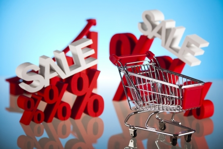 Shopping trolley, discount Stock Photo - 18746177