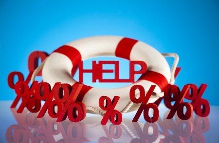 Crisis, Help in finance Stock Photo - 18746043