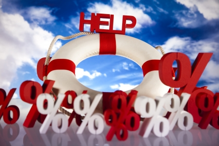 Help in finance crisis  Stock Photo - 18745991