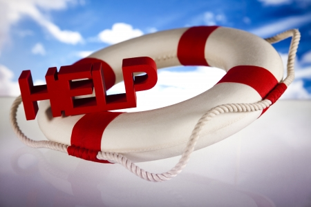 Lifebuoy and help concept Stock Photo - 18745964