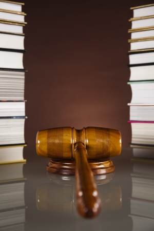 Gavel on books  photo