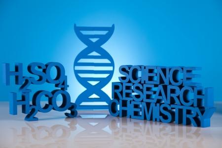 DNA molecules, Chemistry formula background photo