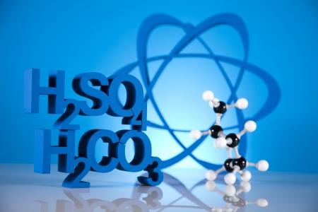 Atom, Chemistry formula background  photo