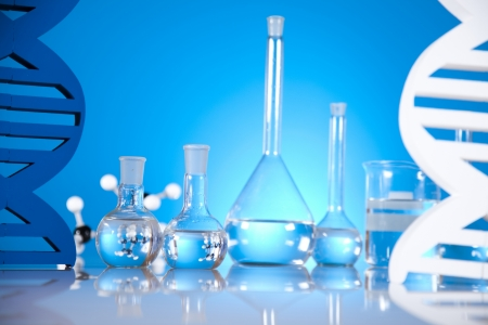 DNA molecules, Laboratory glassware Stock Photo - 19410487