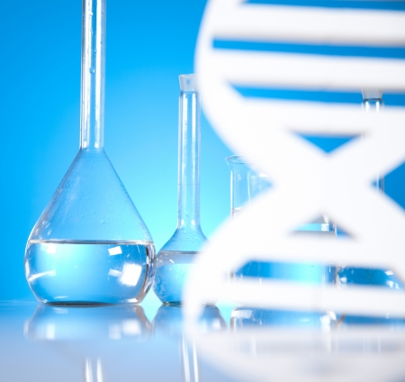Laboratory, DNA molecules  Stock Photo - 19410272