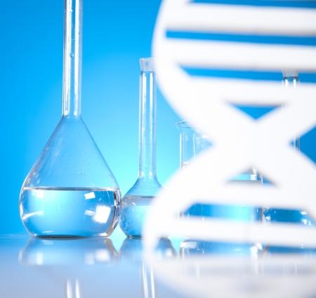 Laboratory, DNA molecules Stock Photo - 19410272