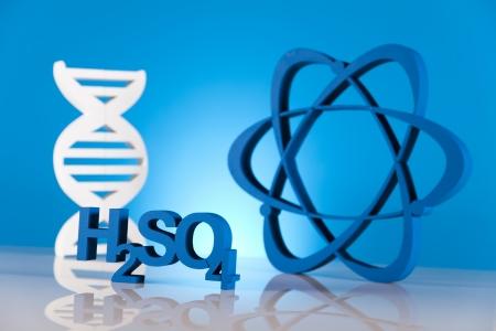 DNA molecules, atom photo