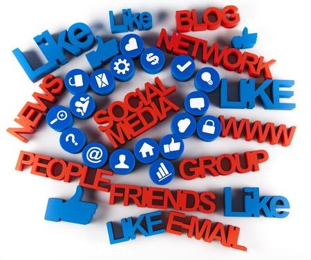 Social media icons set Stock Photo - 19410374