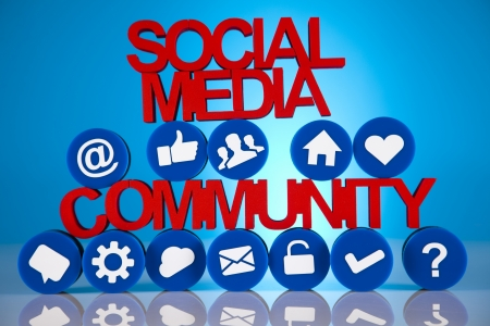 Internet concept with social media Stock Photo - 19410367