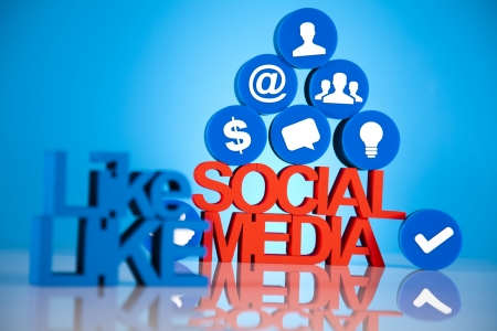 Communication,Internet concept, Social media icons set  photo