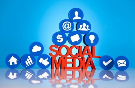 Communication,Internet concept, Social media icons set Stock Photo - 19410396