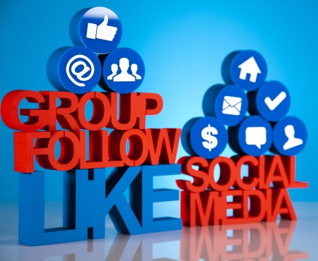 Social media network icons photo