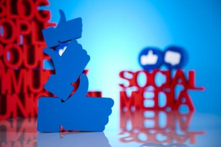 Thumbs up symbol, Social media Stock Photo - 19410386