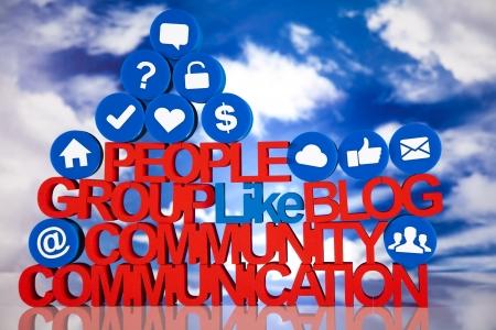 Medios de comunicación social, los antecedentes Foto de archivo - 19410458