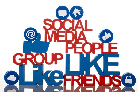 Social media, background Stock Photo - 19410285