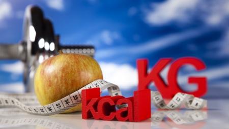 kilograms: Kilograms, Sport diet Stock Photo