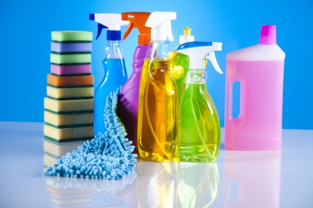 Groep van diverse schoonmaak Stockfoto