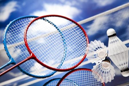 Badminton shuttlecock Banque d'images