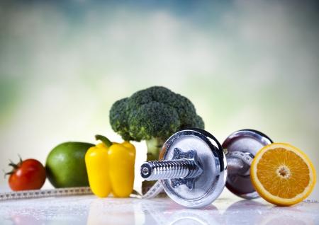 Dieet en fitness Stockfoto