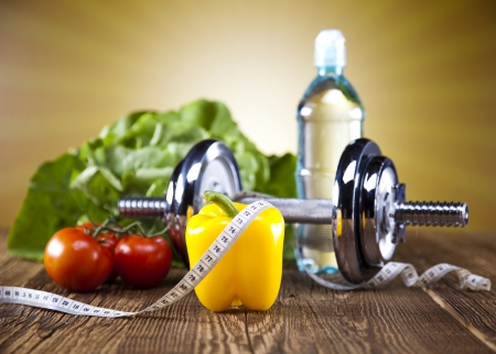 Sport diet, Calorie, measure tape