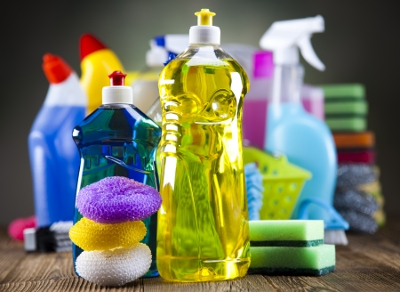 Assorted cleaning products Reklamní fotografie - 23217795