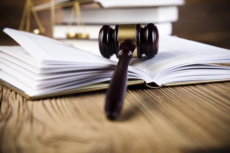 Law theme, mallet of judge, wooden gavel Reklamní fotografie - 27053183