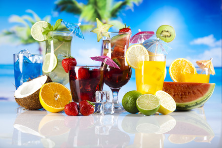 Tropical drinks Banque d'images