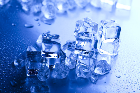 Blue And Shiny Ice Cubes Stock Photo Picture And Royalty Free Image