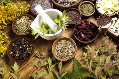 Natural medicine Stockfoto