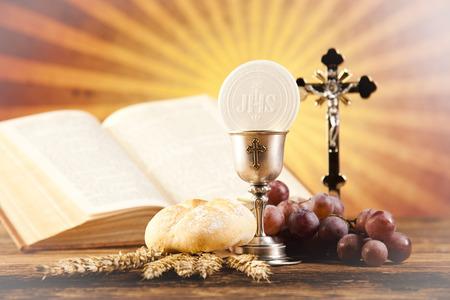 聖体の秘跡 写真素材
