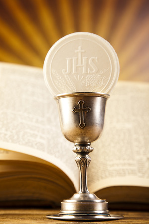 Eucharist, sacrament of communion 版權商用圖片