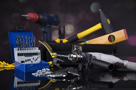 Construction tools, house renovation concept 스톡 콘텐츠