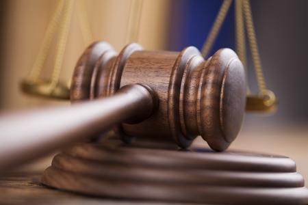 木製小槌弁護士、正義の概念、法制 写真素材