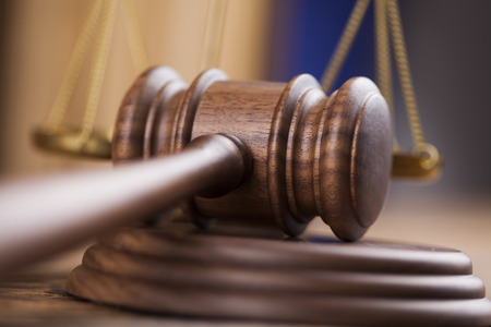 Bois avocat du marteau, le concept de la justice, le système juridique