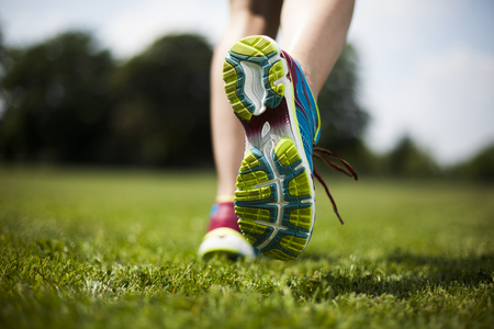 Training woman and healthy lifestyle