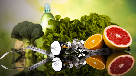 Healthy lifestyle concept, Diet and fitness 写真素材