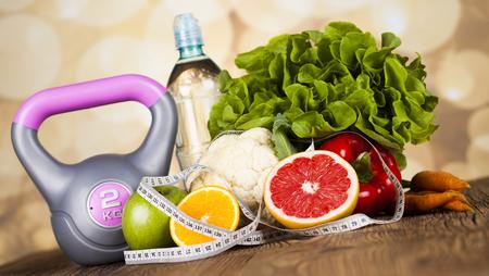 Gezonde leefstijl concept, vitaminen samenstelling Stockfoto