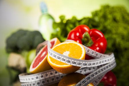 Gezonde leefstijl concept, dieet en fitness