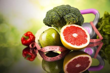 健康的なライフ スタイルのコンセプト、ダイエット、フィットネス 写真素材