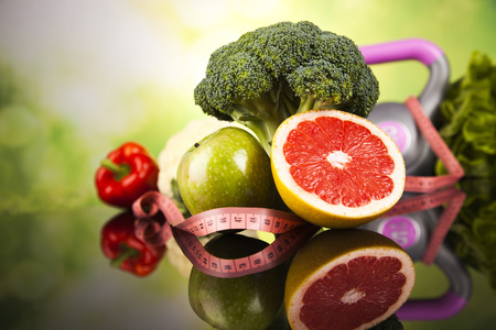 Healthy lifestyle concept, Diet and fitness 스톡 콘텐츠