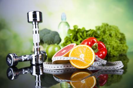 Concepto de estilo de vida saludable, la dieta y la forma física Foto de archivo - 45197303
