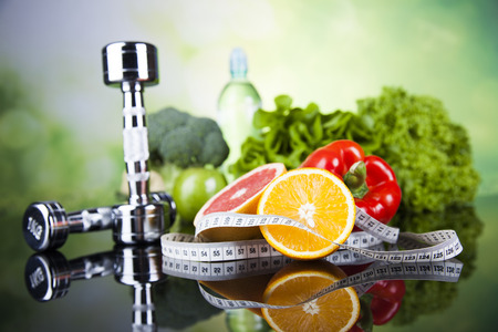 Healthy lifestyle concept, Diet and fitness Banco de Imagens