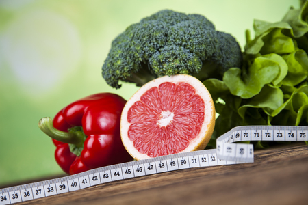 Healthy lifestyle concept, Diet and fitness Standard-Bild