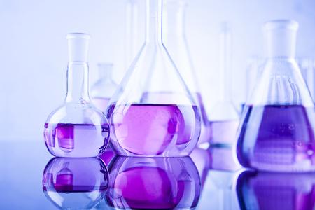 Laboratory glass, Chemistry science concept 스톡 콘텐츠