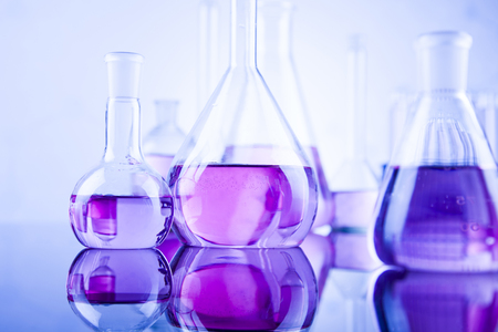 Laboratory glass, Chemistry science concept Banque d'images